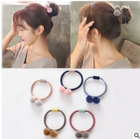 Wholesale Wholesale Meatballs - Hair ball rope new autumn and winter based cute hair band head ball meatball hair bandage