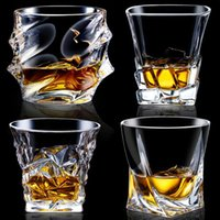 Wholesale diamond cut crystal glasses for sale - Group buy Crystal Creative Whiskey Shot Glasses Lead free Thickened Liquor Cup Wine Tumbler Beer Glass Diamond Cocktail Mug
