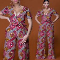 1981f0d8fc58f Wholesale african print jumpsuit for sale - Plus size Summer Wide Leg Pant Women  Rompers Jumpsuits