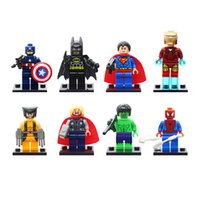 Wholesale minifigures building blocks online - New Style Super Hero Iron Man Hulk The Avengers Alliance Building Blocks Sets Action Minifigures Toys DIY Educational Toy
