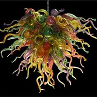 Wholesale big halls - Modern Style Dale Chihuly Chandeliers Hot Sale Energy Saving Light Fixture Custom Blown Glass Hanging Light Big Discount for Decoration