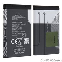 Wholesale li ion battery cell 3.7v - BL-5C 3.7V Actual Capacity 800mAh Phone Built-in Rechargeable Li-ion Replacement Battery with Battery Cells PTC Protection for Nokia CPB_509
