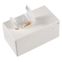 sostenedor de la servilleta de papel del cuarto de baño al por mayor-Caja de pañuelos de papel de rollo de papel removible Hogar baño Contenedor de la caja Contenedor de registro Servilletero con palillo de dientes Dispensador