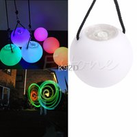 Wholesale belly dance balls - Pro LED Multi-Coloured Glow POI Thrown Balls Light up For Belly Dance Hand Props N08