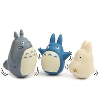 действия хаяо миядзаки оптовых-Хаяо Миядзаки аниме Тоторо фигурку игрушки модель куклы 3style для детей орнамент куклы игрушки горячая игрушка для мальчиков играть