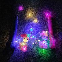 lámpara de bola de alambre al por mayor-Flash ball LED wave wave portátil linterna luminosa alambre de cobre lámpara cartoon wave wave ball mercado nocturno explosión