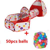 Wholesale play balls kids - multicolor baby tent for kids foldable toy children plastic house game piscina de bolinha play inflatable tent yard Ball Pool