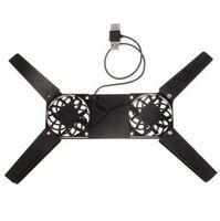 mini almohadilla de enfriamiento al por mayor-Mini USB Notebook PC plegable Cooling Pad 2pcs Ventiladores de refrigeración Laptop Holder Accesorios nuevos y de alta calidad