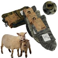 ingrosso calzini di lana di alta qualità uomini-Calze invernali Calze da uomo Calze in lana addensate con lana vera Morbida Calza da uomo casual comoda di alta qualità