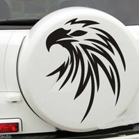 Wholesale Blue Tail Fly - For Car White Flying Eagle Spare tire cover Hood decal Vinyl Handsome And Cool Stickers