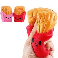 Wholesale Kid Stretch - Squishy French Fries Jumbo Potato Chip Slow Rising High Quality Kawaii Cute Soft Scented Bread Squishies Stretch Kid Toy Gift Free DHL