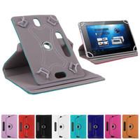 samsung için tablet kapakları toptan satış-360 Derece Döndür Deri Kılıf Kapak Standı Için Evrensel 7 8 9 10 inç Samsung Galaxy Tab 3 4 için iPad Hava Tablet PC