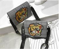 Wholesale Stripe Open Body - Luxury brand sup cham palace wide shoulder bag 2018 new fashion tiger head small square bag fashion wild diagonal shoulder bag