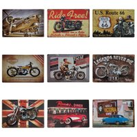 Wholesale art dying online - 20 cm Vintage Tin Poster Best Garage For Motorcycle Route US Iron Paintings Legends Never Die Tin Sign Popular ZB