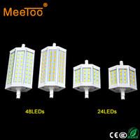 bombilla led r7s 78mm al por mayor-Precio de fábrica R7S LED Luz 15W 25W 24 48Led Bombilla SMD5730 r7s 78mm J78 118mm J118 Proyector Reemplazar lámpara halógena reflector