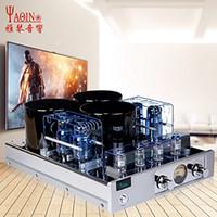 integrierter verstärker großhandel-YAQIN MC-13S 6CA7-T Vakuumröhren-Push-Pull-Hifi-Vollverstärker der Klasse A