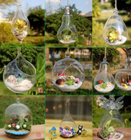 Wholesale Glass Terrarium Kit - Borosilicate Handmade Hanging Glass Terrarium Kit Vase For Home Wedding Decor mix designs
