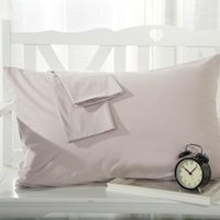 Wholesale pink white black bedding resale online - 2pcs Solid Color Pillow Cover Rectangle Bed Pillow Case Red White Pink Cotton Twill Home Decorative Pillowcase