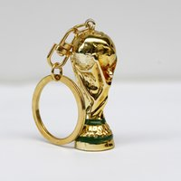 Wholesale Football Rings - 2018 Russia World Cup Mascot Zabivaka Hercules Cup KeyChains for Football World Cup key ring Llaveros Chaveiro Porte Clef