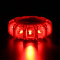 luces rojas intermitentes de seguridad al por mayor-Mini 12 * LED Flare de seguridad de emergencia Red Road Flare Imán intermitente Advertencia Night Lights Borde de carretera Beacon