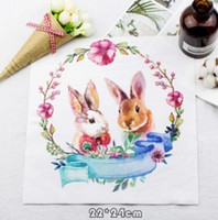 Wholesale alice clothing - Alice Rabbit DIY Stickers For T shirts And Hoodies Men Women Couples Patches Iron on Transfers Patches For Clothes