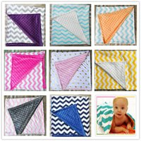 Wholesale Red Nursery - High Quality Baby Chevron Minky Blankets Infant Zigzag Swaddle Wrap Newborn Swaddling Fashion Stroller Manual Blanket Nursery Blankets A020