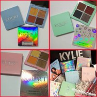 Wholesale easy x - Kylie Jenner the Kylie Kourt x eyeshadow eyeshadow palette blue pink green eyeshadow Highlights High Gloss 4colors Eye Shadow DHL