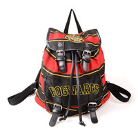 Wholesale two cosplay online - harry potter backpack hogwarts knapsack Bag cosplay harry potter bags Young man s gift lady Backpack man shoulder bag