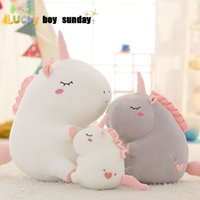 fat stuffed animals 2018 - unicorn plush toy fat unicorn doll cute animal stuffed unicornio soft pillow baby kids toys for girl birthday christmas gift