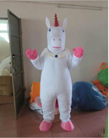 Wholesale New Style Professional Dresses - New Style Adult Cute BRAND Cartoon New Professional Unicorn Mascot Costume Fancy Dress Hot Sale Party costume Free Ship