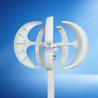 Wholesale wind turbines inverter - Recommed WHITE 300w 12v vertical wind turbine generator kit with MPPT hybrid controller and 1000w pure sine wave inverter