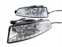 nebelscheinwerfer drk volkswagen großhandel-Superhelles wasserdichtes 12V LED-Auto DRL-Tagfahrlicht mit Nebellampenloch für SKODA OCTAVIA A5 2010 2011 2012