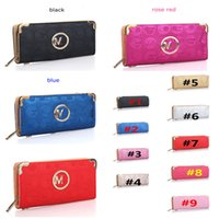 Ladies Luxury Wallet Serie M Famous Brand Purse Single Zipper Multi Tier Borsa in pelle PU Portafogli lunghi per le donne