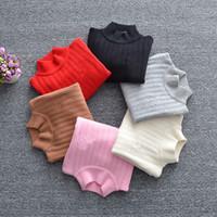 ingrosso camicie di lana per bambini-bambini designer maglioni maglia felpa ragazzo ragazza lana misto camicia a maniche lunghe per bambini autunno inverno vestiti caldi top pullover