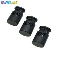 ingrosso plastica del barile-100pcs / lot Cord Lock Stopper Cylinder Barrel Plastic Toggle Clip per accessori per abbigliamento