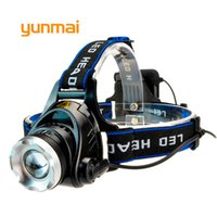 Wholesale Used Head Lights - yunmai Power Led Headlight Waterproof Headlamp 4000 lumen Cree xml t6 Head Lamp Torch use 4 AA Battery Hunting Fishing Light