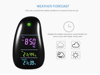 Wholesale Wireless Weather - Cobblestone Wireless Weather Forecast Station Indoor Outdoor Temperature Humidity Monitor Alarm Clock with Remote Sensor