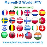android set box iptv großhandel-Weltweites IPTV-Abonnement Android 7.1 TV-Box Nordic Niederländisch Frankreich Spanien UK Schwedisch USA iptv + Adult xxx Smart-Set-Top-TV-Box