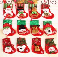 1b2393c0333 Wholesale mini christmas stockings for sale - Mini Cristmas Stocking Tree  Decoration Hangings Ornament Decor Pendants