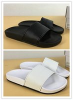 Wholesale indoor outdoor design - Wholesale Summer slipper fashion design flip flop Hydro black white slippers MEN running shoes sneakers casual outdoor trainers size 36-45