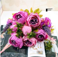 Wholesale vintage display head resale online - New1 Bouquet Heads Vintage Artificial Peony Silk Flower Wedding Home Decor Hight Quality Fake Flowers Peony