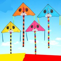 Wholesale Wells Toys - New Pattern Funny Cartoon Dog Kite Outdoor Play Multiple Colors Triangle Breeze Children Kites Without Line Sell Well 5 5yf W