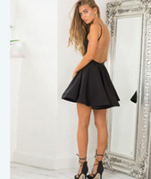 Hot Selling Short Black Backless Prom Dresses Homecoming Dresses Short Dress for Women Party Gowns Under 100