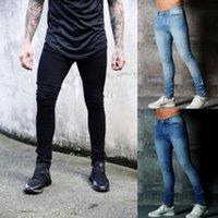 Hirigin Mens Ripped Skinny Biker Jeans Destroyed Frayed Slim Fit Denim  Pencil Pants Jeans 2018 Fear Of Dod Fashion Streetwear 8ad0b50a3