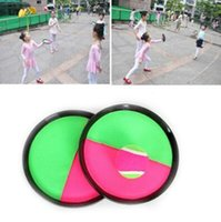Wholesale fun child - 3pcs set Ball Toys Sticky Target Racket Indoor and Outdoor Fun Sports Parent-Child Interactive Throw and Catch Novelty Items CCA9494 50set
