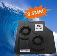 unidades ópticas portátiles al por mayor-DIY 9.5MM Ultrafino portátil CD óptico modificado Refrigeración por aire Refrigerador SATA Ventilación de velocidad ajustable Ventilador turbo Radiador