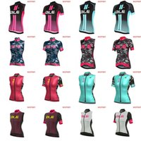 Wholesale Team Cycling Tights - ALE team Cycling Short Sleeves Sleeveless jersey Vest women summer new Mountain Bike Wear cycling tight sportwear D0807