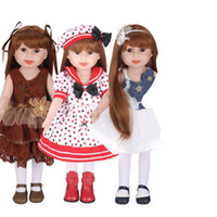 Wholesale american girl dolls clothes - American Doll Handmade Apparel Accessories Fit For 18inch Dolls Clothes Children Color Christmas Gift Collection High Quality 55nh WW