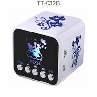 nizhi lautsprecher großhandel-NiZHI TT032B Mini-Lautsprecher tragbare Lautsprecher Tragbare Musik-Player Unterstützung U-Disk / TF-Karte / FM-Radio