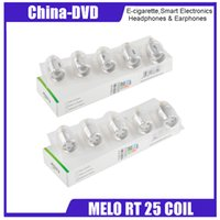 Wholesale rt free - Original 0.15ohm ERL Head ERLQ Head Replacement Coils For Melo RT 25 Atomizer DHL Free Shipping